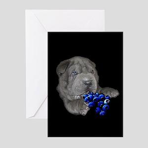 Blue Shar Pei Greeting Cards (Pk of 10)