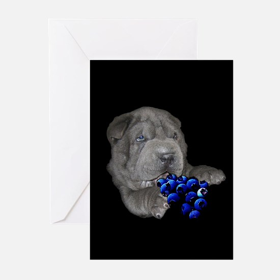 Blue Shar Pei Greeting Cards (Pk of 10)