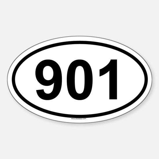 901 Oval Decal