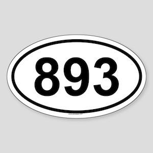 893 Oval Sticker