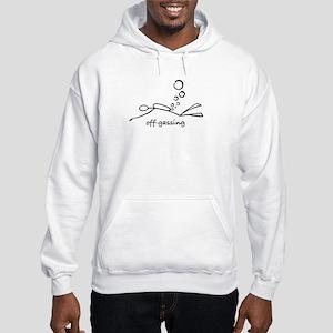 Off-Gassing Cartoon Scuba Diver Hooded Sweatshirt