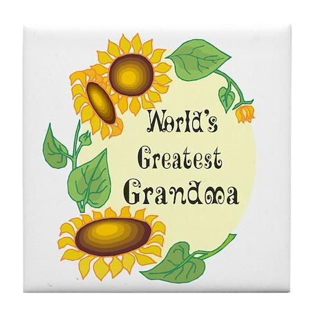 World's Greatest Grandma Tile Coaster