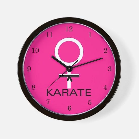 Karate Black Belt Female Wall Clock