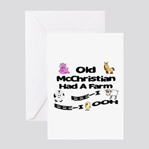 Old McChristian Had a Farm Greeting Card