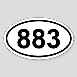 883 Oval Sticker