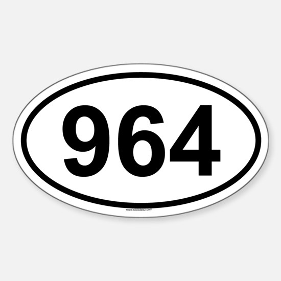 964 Oval Decal