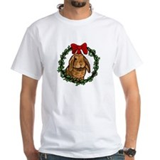 Christmas Rabbit White T-Shirt