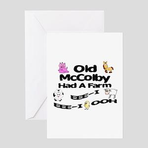 Old McColby Had a Farm Greeting Card