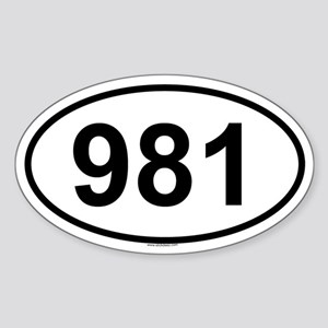 981 Oval Sticker