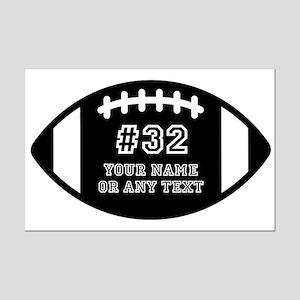 Custom Football Name Number Pers Mini Poster Print