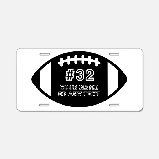 Custom Football Name Number Aluminum License Plate