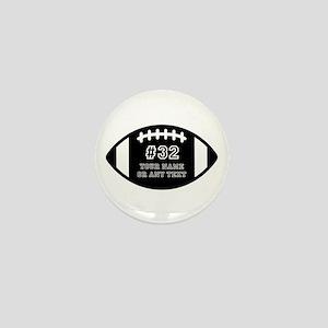 Custom Football Name Number Personaliz Mini Button