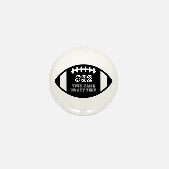 Custom Football Name Number Personaliz Mini Button