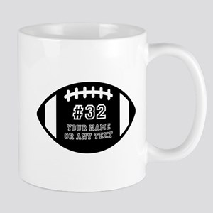 Custom Football Name Number Pers 11 oz Ceramic Mug