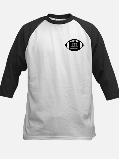 Custom Football Name Number P Kids Baseball Jersey