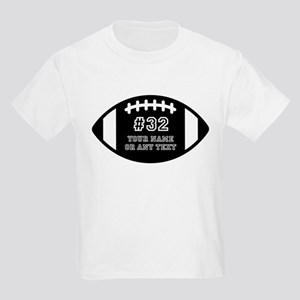 Custom Football Name Number Per Kids Light T-Shirt