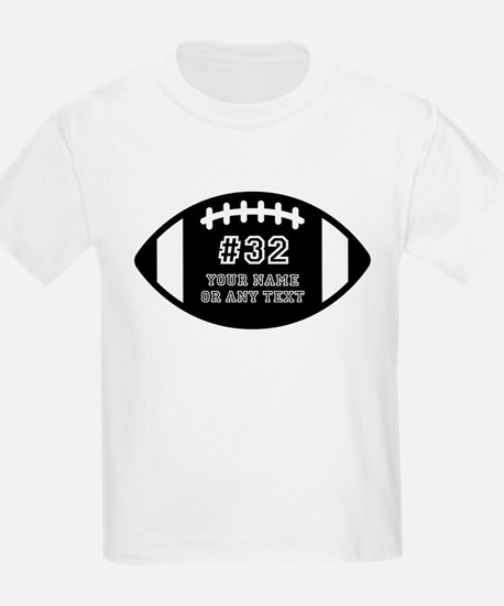 Custom Football Name Number Per T-Shirt
