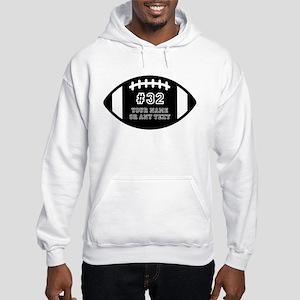 Custom Football Name Number Pers Hooded Sweatshirt