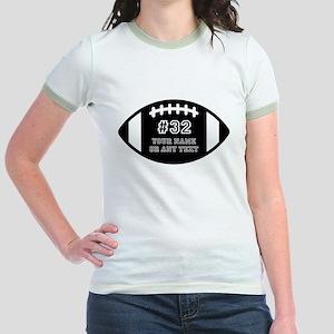 Custom Football Name Number Per Jr. Ringer T-Shirt