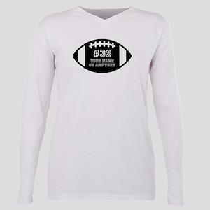 Custom Football Name Num Plus Size Long Sleeve Tee
