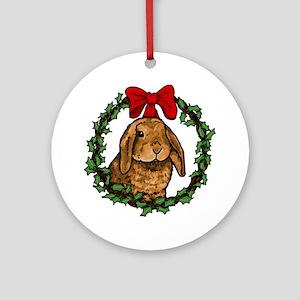 Christmas Rabbit Ornament (Round)