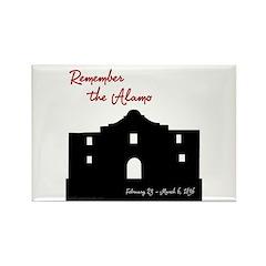 Remember the Alamo Rectangle Magnet
