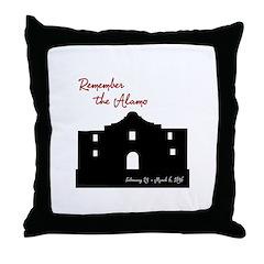 Remember the Alamo Throw Pillow
