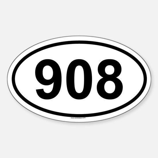 908 Oval Decal