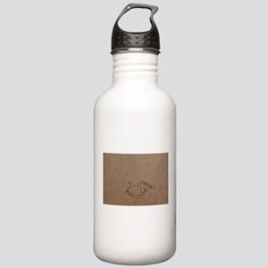 Taurus sign on beach Stainless Water Bottle 1.0L