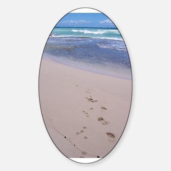 Hawaiian Footprints Oval Decal
