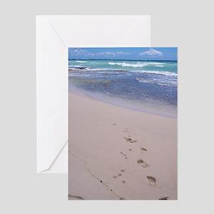 Hawaiian Footprints Greeting Card