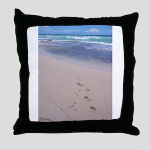 Hawaiian Footprints Throw Pillow