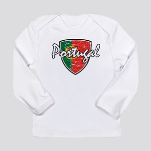 Portuguese distressed Flag Long Sleeve T-Shirt