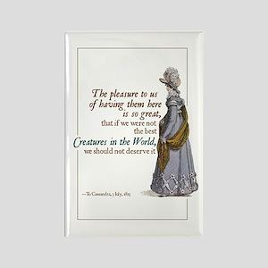 Jane Austen Best Creatures Rectangle Magnet