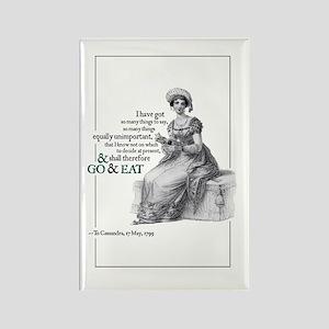 Jane Austen Go & Eat Rectangle Magnet