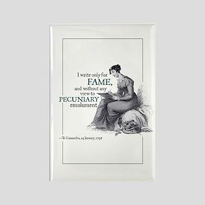 Jane Austen Pecuniary Rectangle Magnet