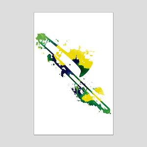 Paint Splat Trombone Mini Poster Print