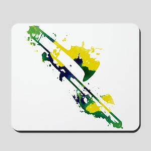 Paint Splat Trombone Mousepad