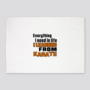Everything I Learned From Karate 5'x7'Area Rug