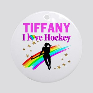 FIELD HOCKEY Round Ornament