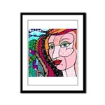 Abstract Woman Framed Panel Print