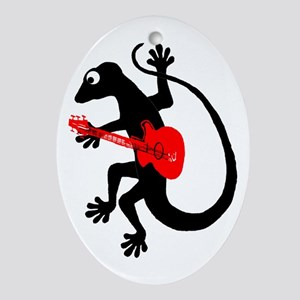 Gecko Guitar Ornament (Oval)