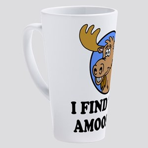 I Find This Amoosing Moose Pun 17 oz Latte Mug