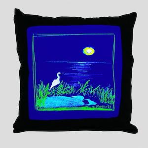 Sleeping Under The Moon Throw Pillow
