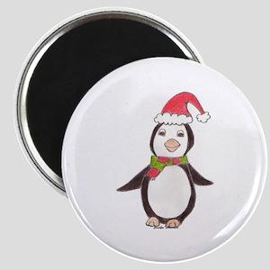 Penguin in Winter Magnet