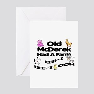 Old McDerek Had a Farm Greeting Card