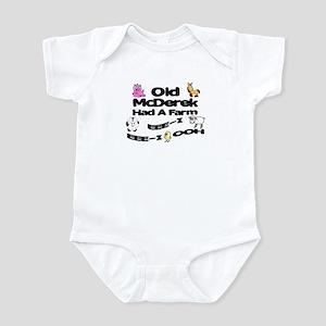 Old McDerek Had a Farm Infant Bodysuit