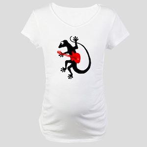 Gecko Guitar Maternity T-Shirt