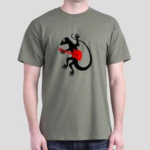 Gecko Guitar Dark T-Shirt