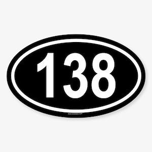 138 Oval Sticker